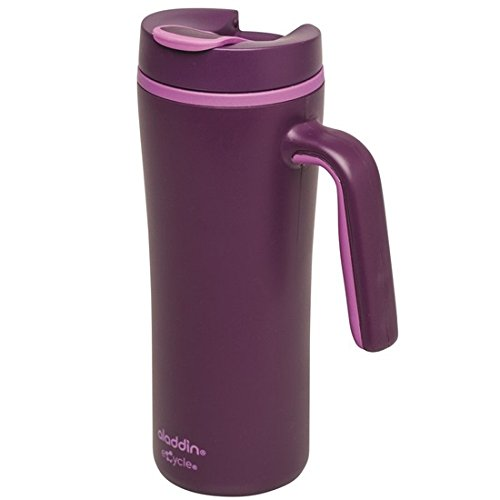 Aladdin 33034 Thermobecher / Isolierbecher aus eCycle, doppelwandig isoliert, 0,35 L, berry