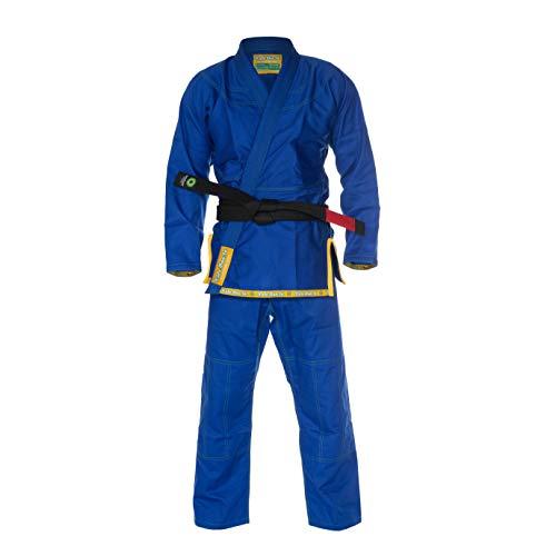 Role Bonito Kimono Azul Ultra Ligero para Jiu-Jitsu Brasileño (BJJ) Talla A4