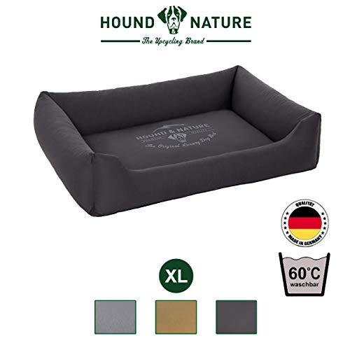 Hound & Nature Zermat hondenbed vierkant knuffelig en wasbaar voor kleine, middelgrote honden in S, M, L, XL, X-Large, grijs