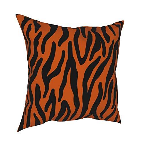 Uliykon Fundas de cojín decorativas de color naranja, fundas de almohada cuadradas suaves, fundas de almohada para sofá, dormitorio, coche, con cremallera invisible, 45,7 x 45,7 cm