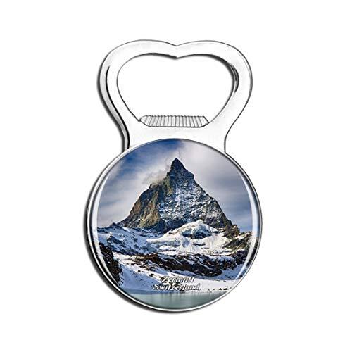 Weekino Schweiz Matterhorn Ski Paradise Zermatt Kühlschrankmagnet Bier Flaschenöffner Stadt Reise Souvenir Sammlung Starker Kühlschrankaufkleber