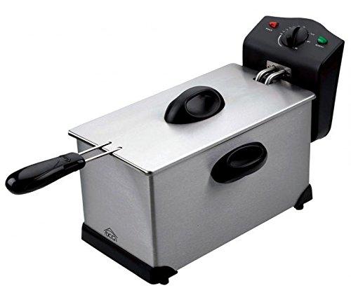 DCG Eltronic FR2759 Singolo 3.5L 2000W Nero, Acciaio inossidabile fryer