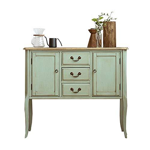 YLiansong-home Commode Cabinet Armoire Commode Unité de Rangement avec Portes for Enfilade Chambre Buffet en Bois (Color : Green, Size : 100x40x86.5cm)