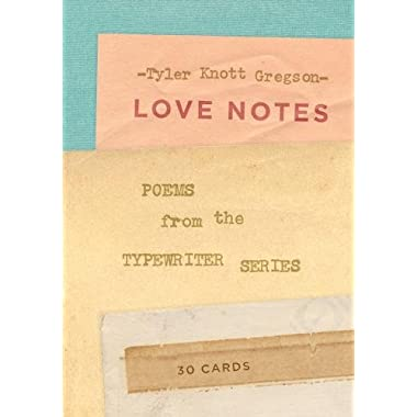 Love Notes: 30 Cards (Postcard Book): Poems from the Typewriter Series