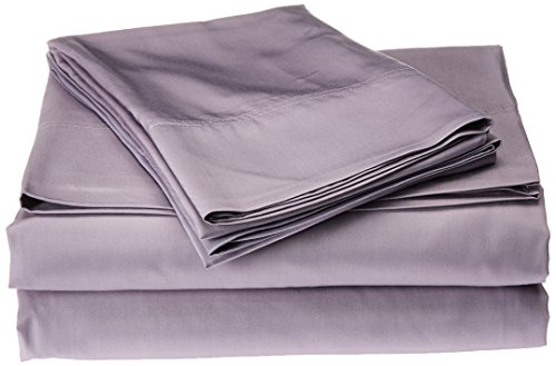 Nine Space Viscose from Bamboo Solid Sheet Set, Lavender, Queen
