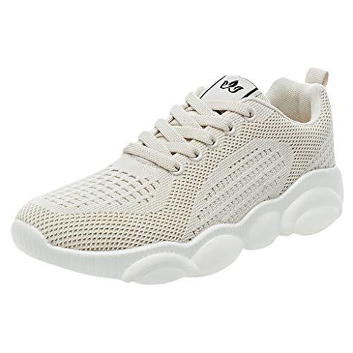 Mode Sneakers mit Mesh Damen Sportschuhe Outdoor,Laufschuhe-Fitnessschuhe-Camper Schuhe-Kickers Schuhe Jogging Leicht Casual URIBAKY