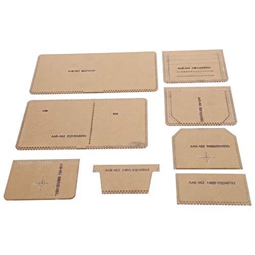 Brieftasche Acryl Version Diy Kurze Brieftasche Acryl Version Klar DIY Brieftasche Leder Bastelwerkzeuge für DIY Leder Basteln