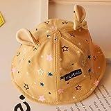 mlpnko Sombrero de Pescador para niños Baby Star Basin Cap Hat Plate New Dome Ear Baby Hat 1-3 años de Edad Código Beige