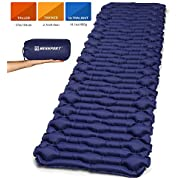 Bessport Inflatable Sleeping Mat Ultralight Air Camping Pad - Waterproof and Moistureproof, Compact and Portable Mattress for Outdoor, Sport, Hiking, Backpacking, Traveling (Blue2)