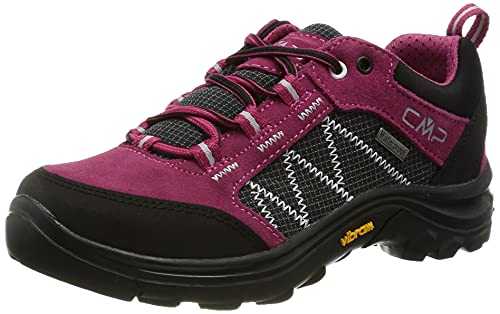 CMP Kids Shoe, Zapato de Trekking Thiamat Low 2.0 WP Unisex Niños, Sherry, 34 EU