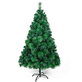 OZAVO Árbol de Navidad Blanco Artificial de Picea(Verde,120cm,300 Ramas),Decoración Navideña,Flocado con Copos de Nieve,Maxi-Relleno PVC Abeto,Soporte Metálico