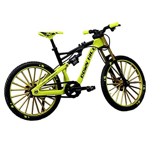 powers Modelo de bicicleta de montaña de aleación 1:10 Finger Mountain Bike Desktop para decoración de bicicleta de juguete, regalo de colección de oficina