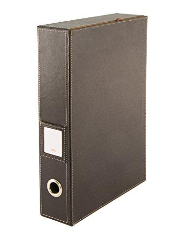 Osco BPUBF1 Luxus Faux Leder, Schreibtischzubehör und Ablage, braun