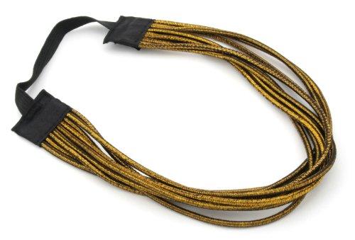 Zest Multi Strand Metallic Lurex Headband Hair Accessories Gold by Zest