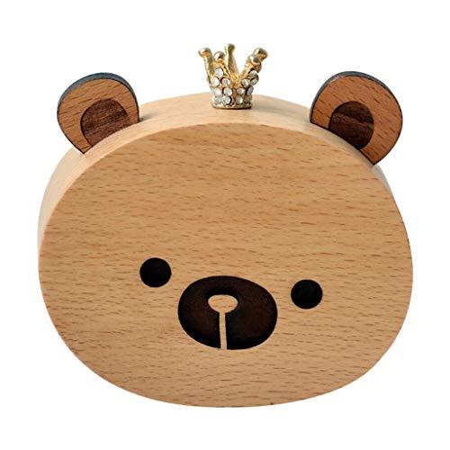 Tingting1992 Caja de Musica para Luces navideñas Creative Fun Animal Music Box Classic Caja de música mecánica Niño Regalo de cumpleaños - Oso Caja de música Personalizada (Color : Bear)
