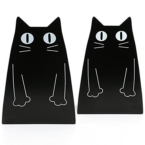 Stabiles 2er-Set Katzen-Buchstützen
