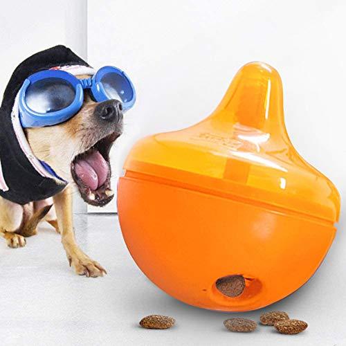 AYADA Interaktives Hundespielzeug, Hundespielzeug für Leckerlis, Hunde Futterball Langsames Fressen Tumbler Spielzeug Interaktives Spielzeug Kauspielzeug Leckerli Ball für Lebensmittelspender Hunde