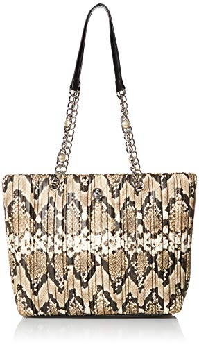 Betsey Johnson womens Two in One Icons Small Tote, Stripe, 7' L x 7.25' H x 3.75' D