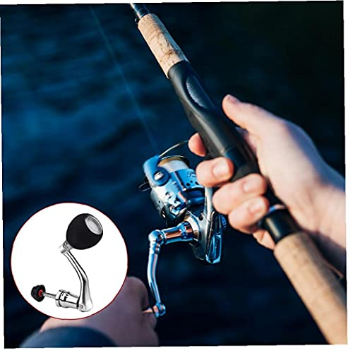 WFIT Fishing Reel Handle Rotatable Knob Power Handle Grip Metal Rocker Arm Grip Tbest Power Knob for Spinning Reel for Spinning Fishing Reel Replacement Silver