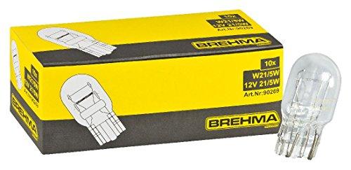 BREHMA 10x Glassockellampe W21/5W 12 Volt 21/5 Watt W3x16q
