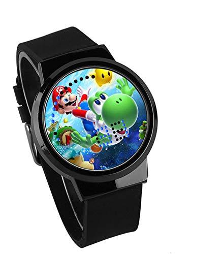 YUNMEI Super Mario Reloj Super Mario Bros Juego Niños Niñas Ver Relojes Ver Regalo De Estudiante