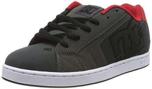 DC Shoes Herren Net - Low-top Shoes for Men Skateboardschuhe, Grey/Dark Red, 48.5 EU