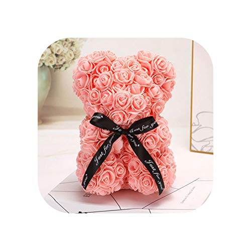 Old street Fake Nail Rose Bear Gift |Romántico Día de San Valentín Peluche Rosa Osito de Peluche Regalo de Boda de Navidad para Novia Regalo de cumpleaños Dropship-Viande Rose25cmNoBox-
