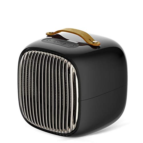 QFQ elektrische radiator, lief, dubbel gebruik, intelligente radiator, warm-snelheid, energiebesparend, voor slaapkamer, woonkamer, kantoor, verwarmingstoestel zwart.