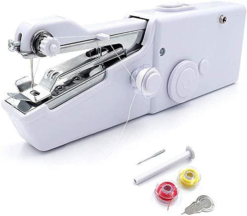 Mini máquina de coser de mano, portátil, eléctrica, herramienta doméstica, para tela, ropa, cortinas, bricolaje y uso de viaje, puntada rápida y práctica