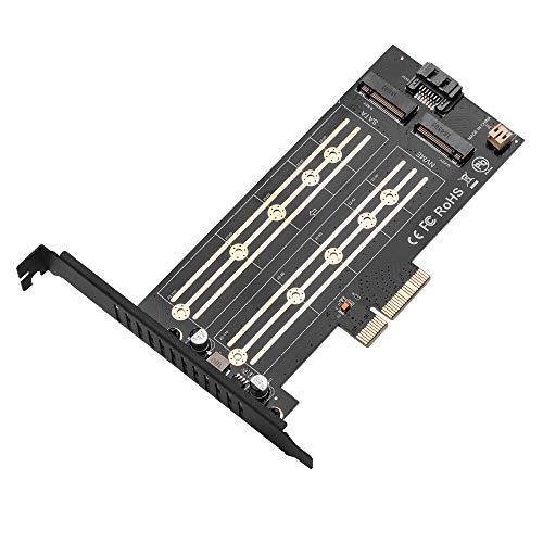 Módulo electrónico PCI-E X4 3.0 M.2 Protocolo SATA/NVME SSD NGFF M KEY/B KEY/B & MKEY COMPUTADOR M2 Adaptador de disco duro Tarjeta de expansión Equipo electrónico de alta precisión