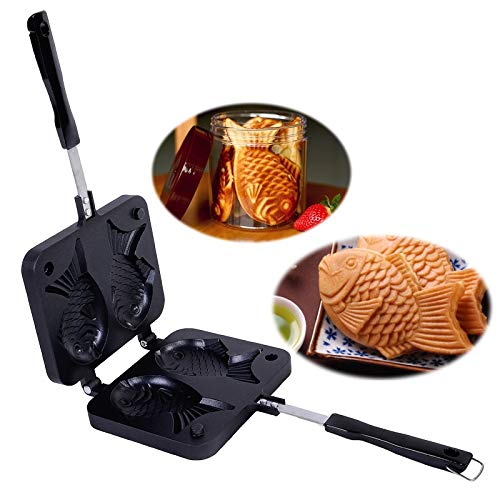 AGAN Japonés en Forma de pez para Hornear Galleta Pan Fabricante filetea Japonesa Pancake Cacerola Doble de Acero Inoxidable sartén Inicio Cake