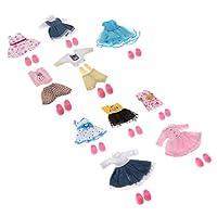 Abbraccia 10x BJD人形の服装ファッションドレス(靴付き)に16cm人形のドレス