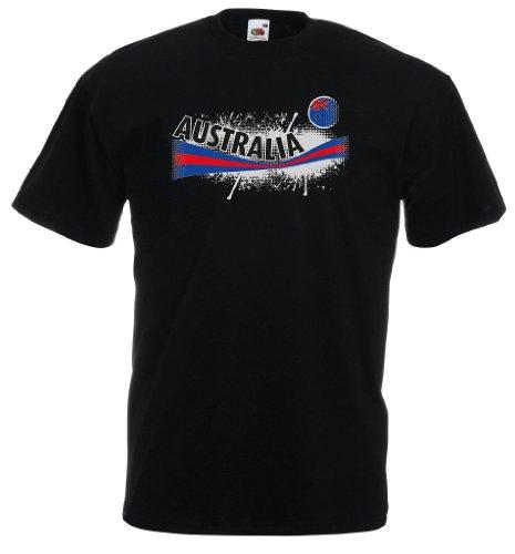 Fruit of the Loom Australien Herren T-Shirt Australia Vintage Trikot XL
