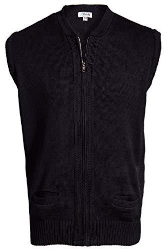 Edwards Full-Zip Heavyweight Acrylic Sweater Vest 3XL Navy