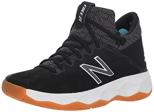 New Balance Men's FreezeLX 2.0 Box Lacrosse Shoe, Black, 9 W US
