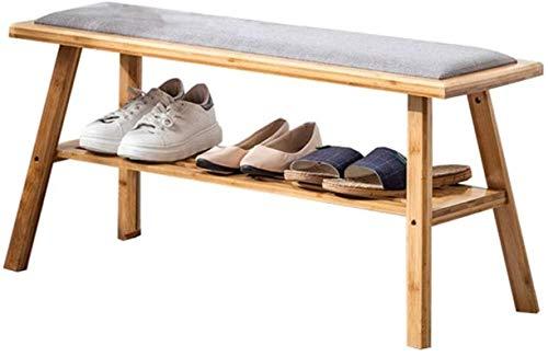 Ranuras de zapato ajustables Organizador Bastidore Estante de zapatos Banco de zapatos, perchero de zapatos multiusos, fácil de montar, adecuado para hall de entrada / sala de estar / de dormitorio. R