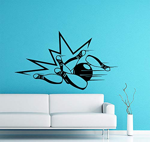 supmsds Neu eingetroffen wandaufkleber Bowling Kegel Bowling Ball Sport Vinyl Sport Zimmer Aufkleber wohnkultur Kunst wandtattoo Poster 94X54CM