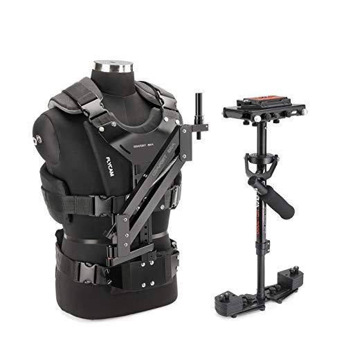 FLYCAM HD-3000 Camera Steadycam Stabilizer System with Comfort Arm and Vest for DSLR Video Camcorder up to 3.5kg/ 7.7lb | Free Unico Quick Release & Table Clamp + Carrying Bag (CMFT-HD3)