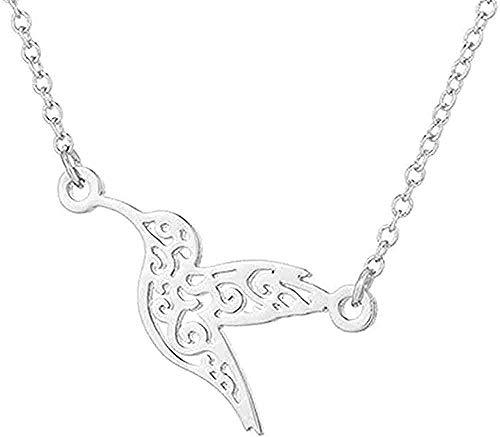 zhuangpuxu Collar de joyería Origami Collar de colibrí para Mujer Simple Collar...