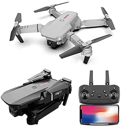 DCLINA Drone GPS Pieghevole 4K FPV HD Video Dual Camera Drone con Custodia per Il Trasporto Lungo Tempo Volo Ritorno Automatico a casa Bianco