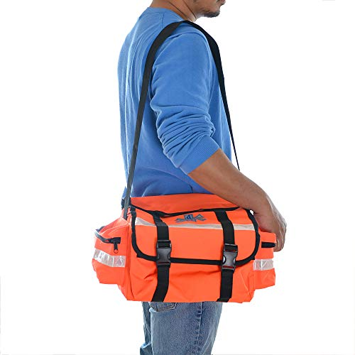 Dealmed First Responder Trauma Bag, Medium, Orange