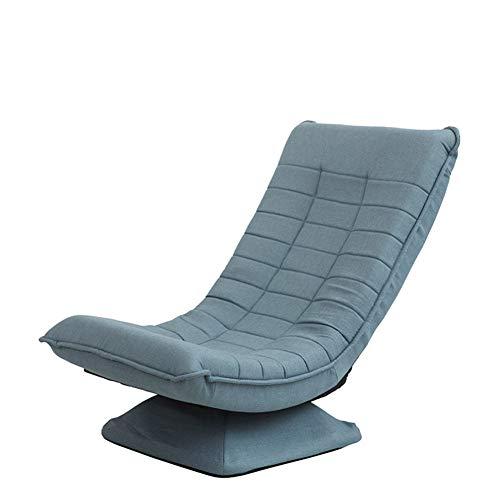 WJH Kinder Sofa, Chaise Lounge Sofa, Folding Drehbar Gemütlich Stetigen Kindermöbel Für Wohnzimmer Schlafzimmer-Blau 57x56x80cm(22x22x31inch)