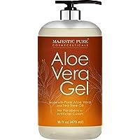 Majestic Pure 16 fl oz Aloe Vera Gel with Tea Tree Essential Oil