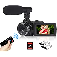 Heegomn TDV-1302 720p 32GB Flash Memory Camcorder with Microphone, Remote, 2 Batteries,, 32GB SD Card