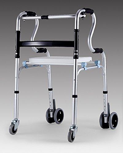 Guo Shop- Les personnes âgées avec le siège Poulie Walker Epaississants aluminium en alliage de personnes handicapées Quatre pieds Shui peut s'asseoir peut prendre un bain Salle de bain Tabourets