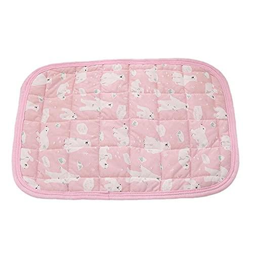 NIDONE Haustieresabkühlendes Schlafmatte, Hund Katzen Haustier Cooling Pad Kissen Kalt Bett Decke EIS-Seide Kühlmatte Wärmeableitung-Auflage für Autositze Betten im Sommer Rosa L