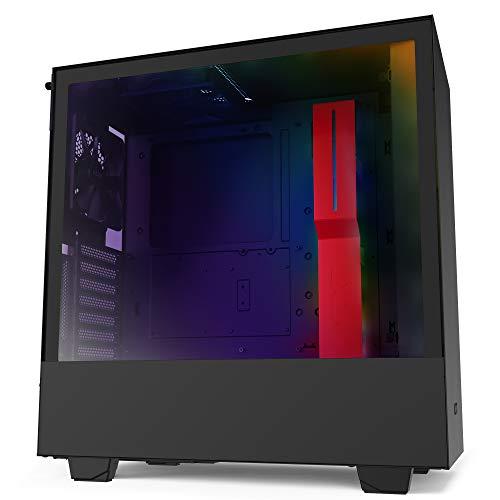 NZXT H510i - Case da gioco per PC mid-tower ATX compatto - Porta Tipo C USB I/O frontale - Montaggio GPU verticale - Pannello laterale in vetro temperato - Illuminazione RGB integrata
