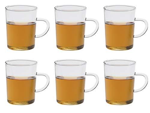 Trendglas Jena Teeglas mit Henkel 6-er Set, konisch, je 0,22 Liter