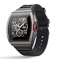 [1.4-inch Full Touch Smart Watch] GPS Running Watch with a Blood Pressure/Heart Rate Test, Calorie Calculator/Female Menstrual /Sleep Information Notification/Incoming Call Reminder/Rejection