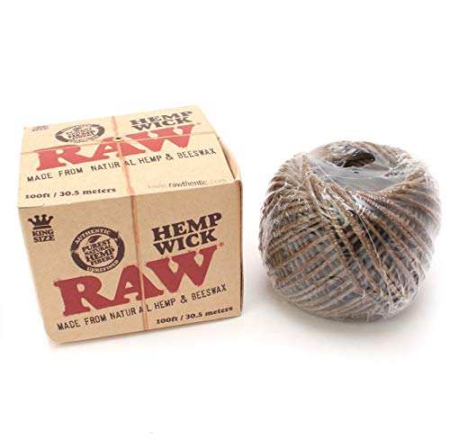 Cuerda de encender RAW Hemp Wick Ball (30,5m)